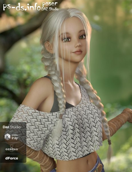 Lori Hair for Genesis 3 and 8 Female(s)