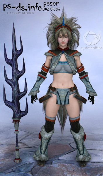 MH Kirin Outfit For G3F