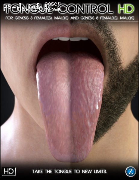 Tongue Control HD For Genesis 3 and Genesis 8 Female and Male