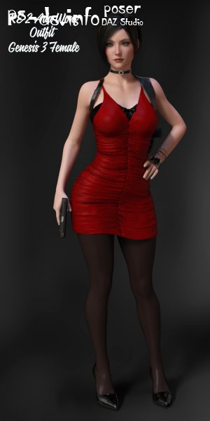 RE2 Ada Wong Outfit for G3F