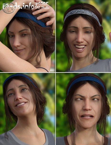 A Good Day - Dialable Expressions for Genesis 8 Female