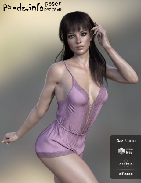 dForce X-Fashion Dreamer Bodysuit for Genesis 8 Female(s)