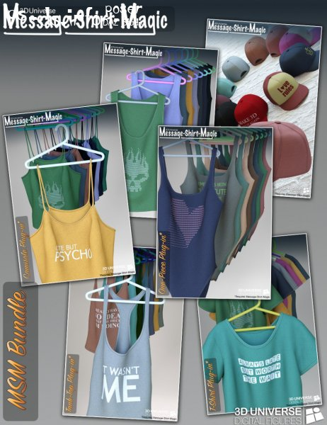 Message-Shirt-Magic Bundle for Genesis 8 Female(s)