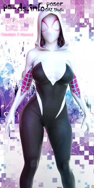 MV SpiderGwen Outfit for G3F