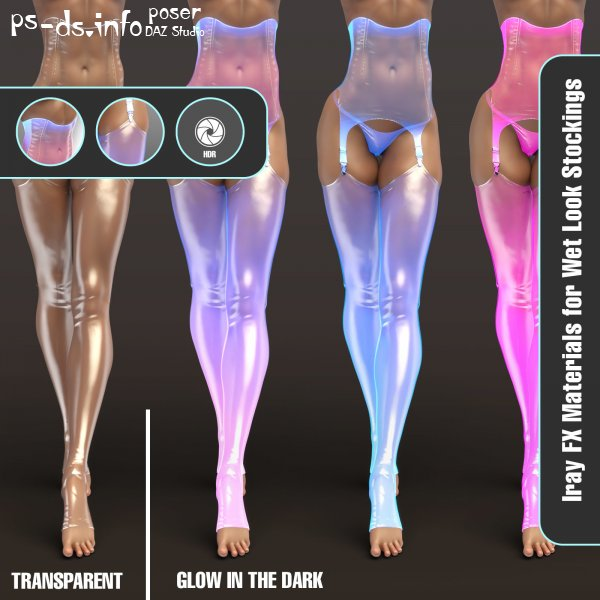 Iray FX Material Addon for Wet Look Stockings