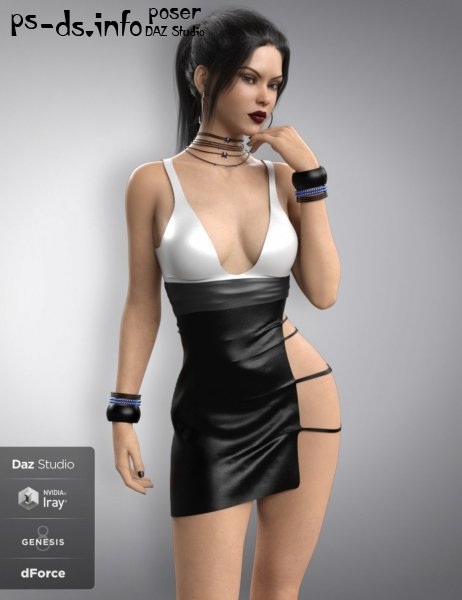 dForce Sassy Girl Outfit for Genesis 8 Female(s)