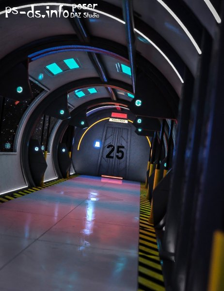 Space Station Hallway
