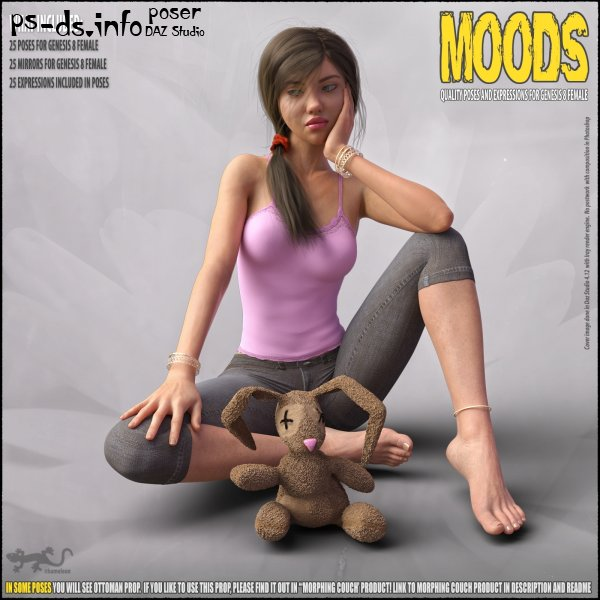 MOODS 2 - POSES FOR GENESIS 8
